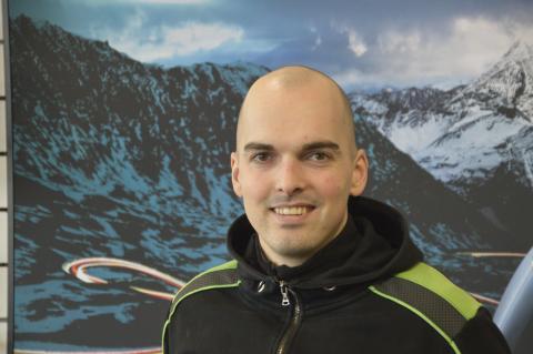 Sven, mechano bij Interbike Lokeren