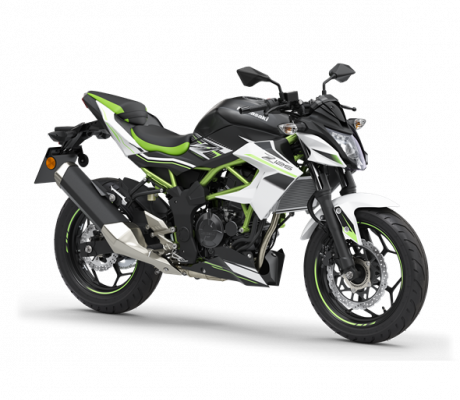 Kawasaki Z125 zwart-wit