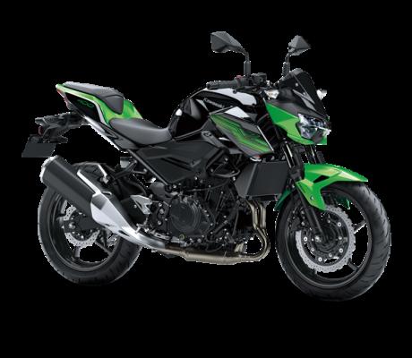 Kawasaki Z400 black-green